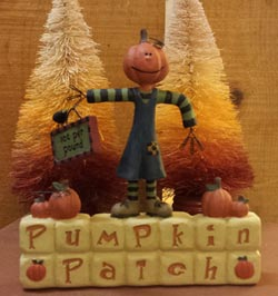 Pumpkin Patch Block with Scarecrow