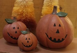 Jack-o-Lanterns with Toothy Grins (Set of 3)