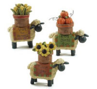 Blossom Bucket Sheep with Harvest Basket