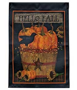 Primitive Fall Garden Flag