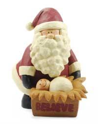 Blossom Bucket Believe Santa & Manger