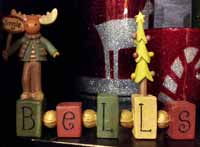 Jingle Bless Bead Block with Moose