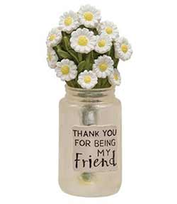 Friend Jar with Daisies