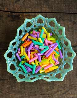 Straw Tube Beads