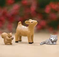 Mini Woodland Animals (Set of 3)