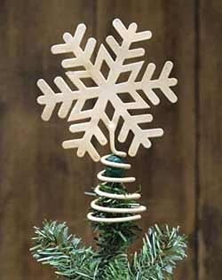 Ivory Snowflake Tree Topper - 4.25 inch