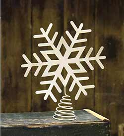 Ivory Snowflake Tree Topper - 9.5 inch