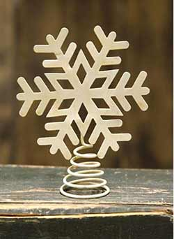 Ivory Snowflake Tree Topper - 5.75 inch