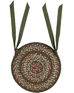 Holly Berry Jute Chair Pad