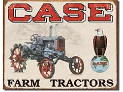 Case Tractor Co Tin Sign