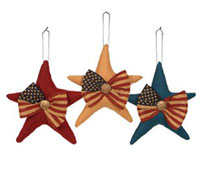 Primitives By Kathy Patriotic Wool Hanging Star