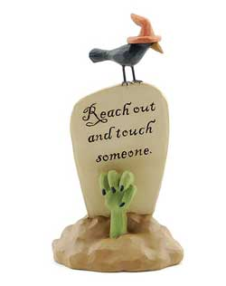 Reach Out Halloween Headstone