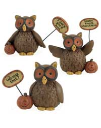 Whooo&#039;s That Owl with Pumpkins