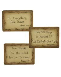 Give Thanks Scripture Plaque
