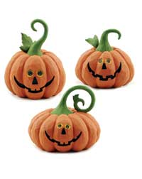 Jack O'Lantern with Curly Stem