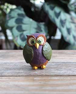 Miniature Owl Figurine