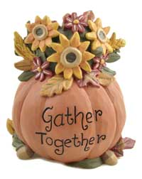 Gather Together Pumpkin with Flowers