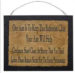 Ladies & Gentleman Bathroom Sign