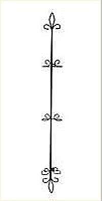 Fleur de Lis Vertical Three-Plate Rack
