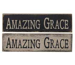 CWI Amazing Grace Primitive Wood Sign