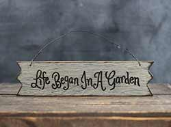 Life Began Primitive Wood Sign