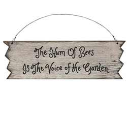 Hum of Bees Primitive Wood Sign