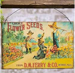 Flower Seeds Vintage Sign