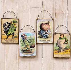 Flower Seeds Vintage Ornaments (Set of 4)