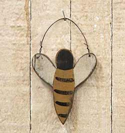 Rustic Wood Bee Ornament