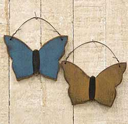 Rustic Wood Butterfly Ornament