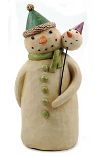 Snowman Holding Snow Head