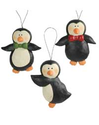 Bow Tie Penguin Ornament