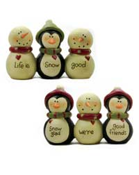 Life is Good Snowmen &amp; Penguin