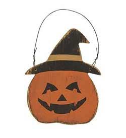 Jack O Lantern Witch Ornament