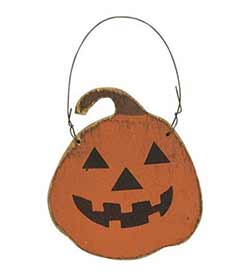 Jack O Lantern Wood Ornament