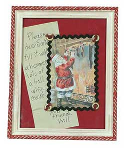 Christmas Framed Picture - Santa's List