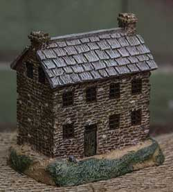 Primitive Town - Stone Colonial House