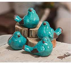 Teal Blue Bird Figurine
