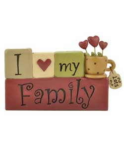 I Love My Family Blocks with Cup