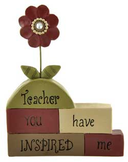Teacher..Inspired Blocks with Flowers