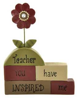 Teacher..Inspired Blocks with Flowers