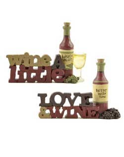 Wine a Little or Love & Wine Sign with Bottle