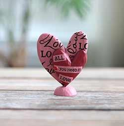 All You Need Is Love Heart Figurine