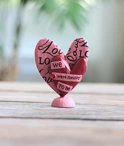 We Were Meant to Be Heart Figurine