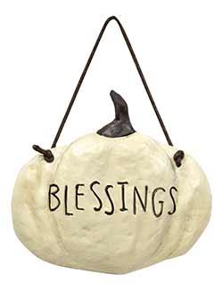 Blessings Resin Pumpkin Sign