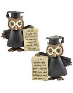 Graduation Owl with Letter