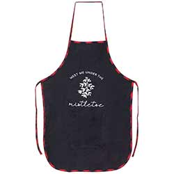 Under the Mistletoe Buffalo Check Apron