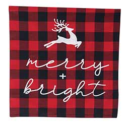 Merry & Bright Buffalo Check Pillow