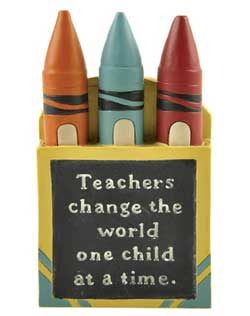 Teachers Change the World Crayon Box