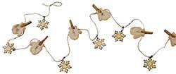 Mitten & Snowflake Mini Glitter Garland
